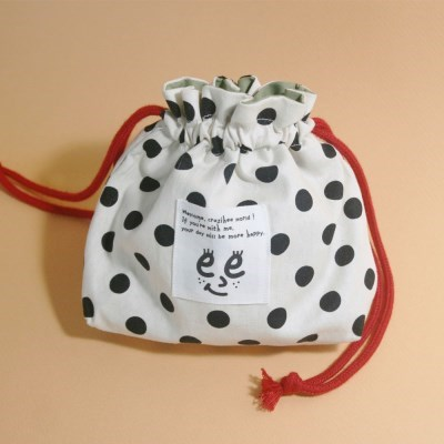 Pattern string pouch_Dot