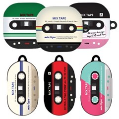 HI 믹스 테이프 갤럭시 버즈 케이스 버즈 라이브 플러스 하드 커버