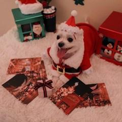 런던 크리스마스 감성 포토 엽서 세트