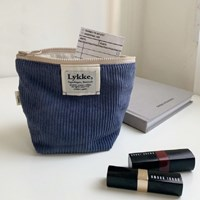 Lykke Corduroy Pouch_Blueberry