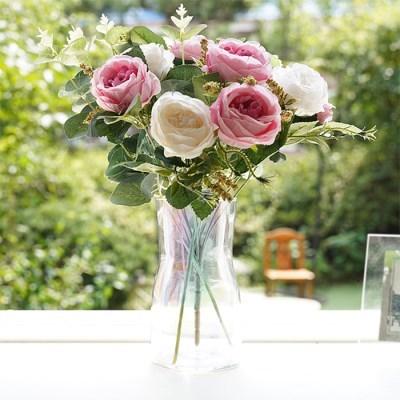 홀로그램 유리 화병 오팔 인테리어소품 꽃병