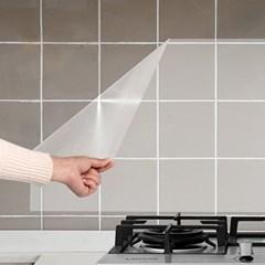 방수 접착식 주방 오염방지 투명 시트지 60x90 찌든때 기름때 필름지