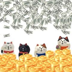 청년토이 돈을 부르는 고양이 미니어처 피규어