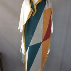 기모 줄무늬 마름모 롱 데일리 미시 중년 패션 스카프