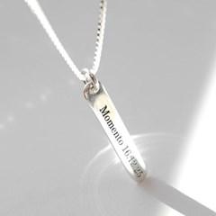 실버바 롱목걸이 60cm 남여공용 레이어드 목걸이 각인목걸이