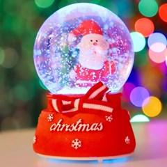 8cm 리본 선물 산타 워터볼 (A.LED 사운드)_(301835215)