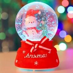 8cm 리본 선물 눈사람 워터볼 (B.LED 사운드)_(301835214)