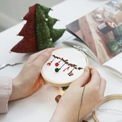 101도 프랑스자수 DIY세트 겨울시리즈 크리스마스 (가렌더)