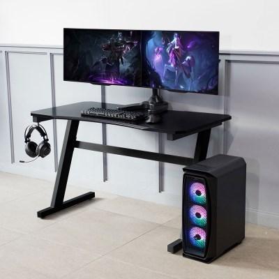 이지 1인용 블랙 컴퓨터 게이밍 데스크 BK