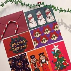 [1+1] 크리스마스카드 6장