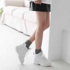 여성 가죽 기모 화이트 키높이 운동화 스니커즈 DONA 5289