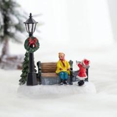 미니 겨울풍경 조명(공원)
