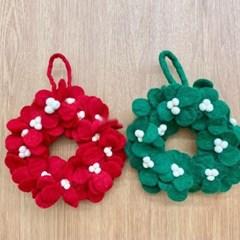 흰꽃 리스 레드 소품 인테리어 꾸미기 크리스마스