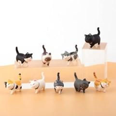 귀여운 고양이 피규어 미니어처 9종세트