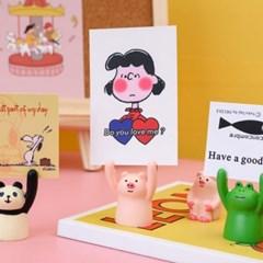 귀여운 동물모양 명함 카드 메모 피규어형 홀더