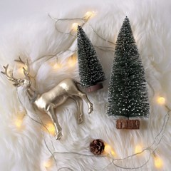 스노우 크리스마스 미니 트리 / 북유럽 인테리어