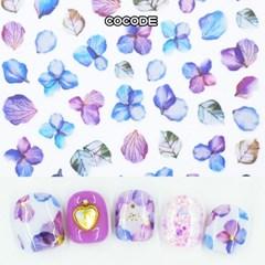 퍼플 드라이 꽃잎  네일스티커 네일데코스티커 셀프 젤네일