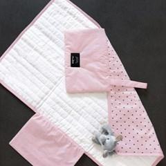코니테일 기저귀 패드 - 핑크도트 (휴대용 기저귀매트 출산선물)