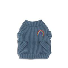 [monchouchou] Rainbow Knit Cardigan_Teapot Blue