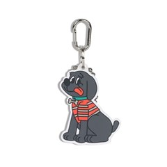 [monchouchou] Country Dog Rubber Key Ring_Black Dog
