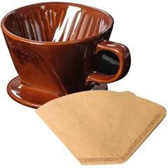 도모 커피드리퍼 소 1/2CUP 브라운+여과지200장세트_(3842606)
