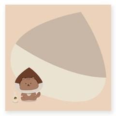 밤막다람쥐 떡메모지