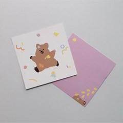 영이의숲_낙서 꽃카 엽서
