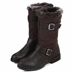 kami et muse Double belt middle fur boots_KM20w208