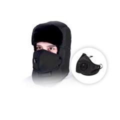 털모자 군밤모자 귀달이모자 칼바람 철동방어 방한 마스크 모자세트
