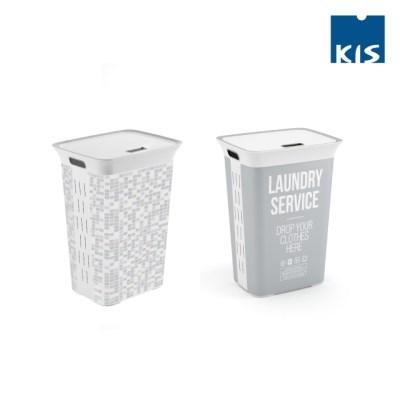 키스 시크 햄퍼 빨래바구니(2종)/빨래통 세탁바구니 세탁물 세탁용품
