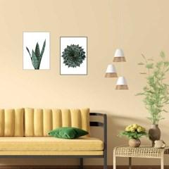 식물 나뭇잎 거실포인트액자 집꾸미기소품 A4