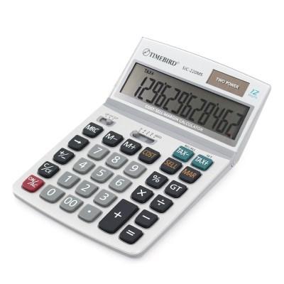 타임버드 사무용 계산기 SJC-220MS 원가 세금계산 12단