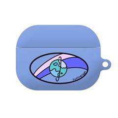 몬드몬드 Universe blue 에어팟 프로 케이스 하드 커버 키링 포함