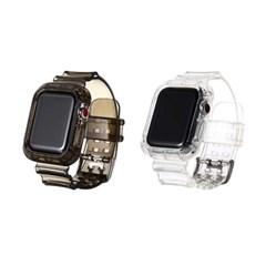 애플워치 SE 6 5 4 3 2 스트랩 투명 젤리밴드