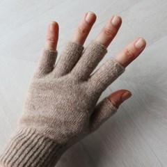 겨울 울 니트 반장갑(4color)