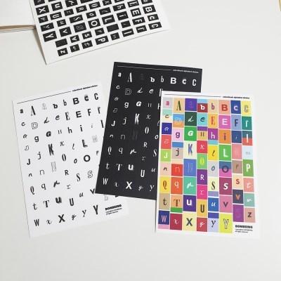 컬러블록 알파벳 스티커