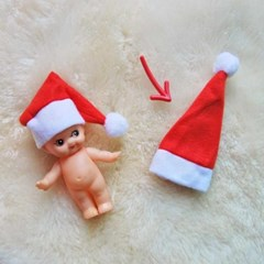 인형 산타 모자