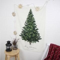 크리스마스 트리 면 패브릭 포스터