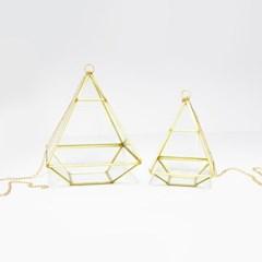 피라미드 테라리움 유리볼 골드