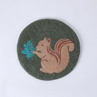 그루다람쥐 펠트 방석