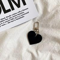 Black Heart Keyring