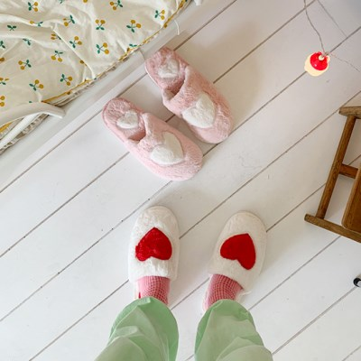 Lovely Heart Slipper 러블리 하트 슬리퍼 (2가지 색)