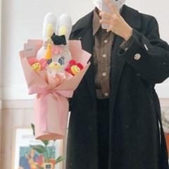 학사모 리코 인형 꽃다발
