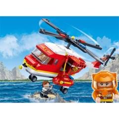 반바오 블럭 소방 헬리콥터 파이어 시리즈