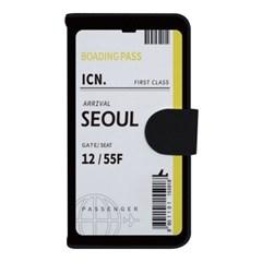 아이폰X XS 에어플레인 티켓 사피아노 지갑케이스