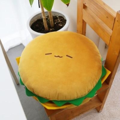 코튼푸드 햄버거 쿠션방석 40cm (리뉴얼)