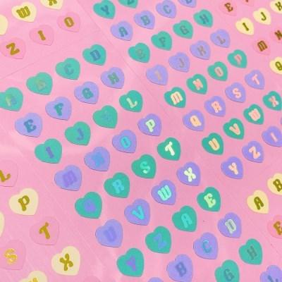반짝반짝 Heart Alphabet cool 칼선 스티커