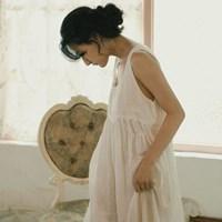 애런 린넨 드레스 : Aaron linen dress 웜화이트