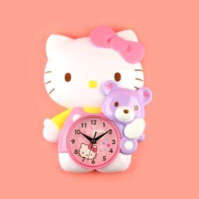 헬로키티 3D벽시계(핑크-저소음)0362_(464304)