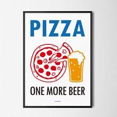 피맥 M 유니크 인테리어 디자인 포스터 피자 맥주 식당